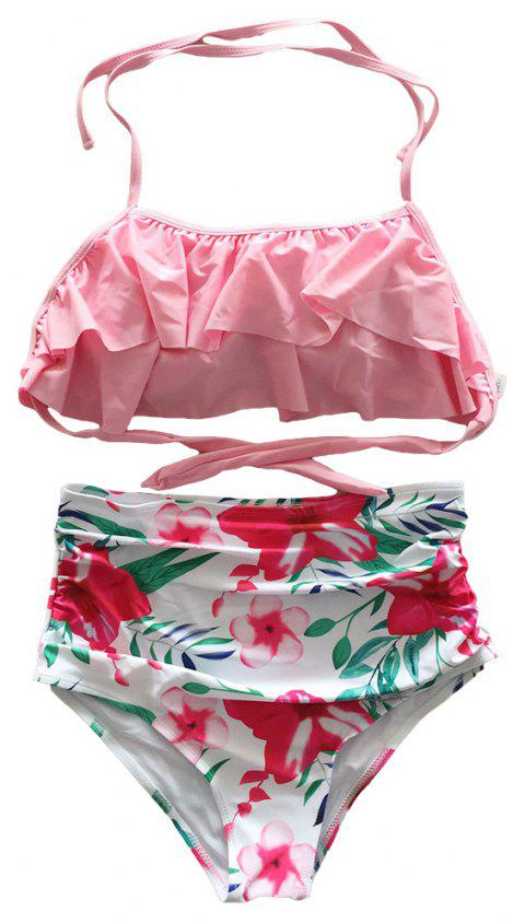 SleeWlM Printing Parent-Child Outfit Mom Swimwear - multicolor E S