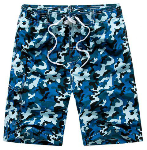 Summer Couples Loose Camouflage Casual Pants Quick Dry Shorts - multicolor B L