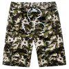 Summer Couples Loose Camouflage Casual Pants Quick Dry Shorts - multicolor C L