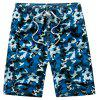 Summer Couples Loose Camouflage Casual Pants Quick Dry Shorts - multicolor B 3XL