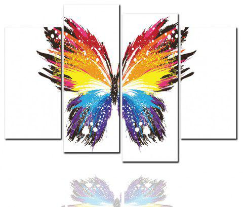 4 pcs HD peintures jet d'encre peinture décorative animale papillon abstrait - multicolor 40CM*80CM*2PCS+40CM*100CM*2PCS