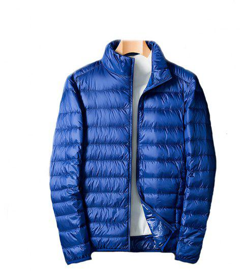 Homme Blanc Eiderdown Down Jacket - Bleu L