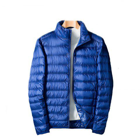 Homme Blanc Eiderdown Down Jacket - Bleu M