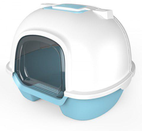 Best Outside Extra Large Enclosed Cat Litter Box - DEEP SKY BLUE MSP-0006