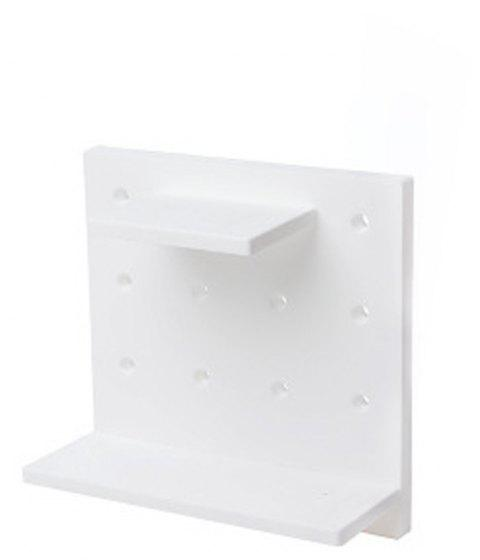 Plastic Board for Sitting Room Kitchen Bedroom Hanging Rack - WHITE 1PC