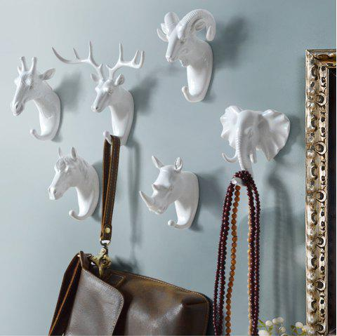 Decorate the coat hook hanging hook wall act the role ofing resin handicraft - WHITE 4PCS