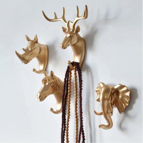 Decorate the coat hook hanging hook wall act the role ofing resin handicraft - GOLD 6PCS