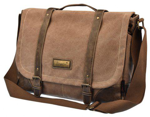 DGY Men'S Canvas Messenger Bag Shoulder Or Handbag - TAN