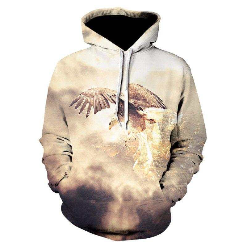 3D Glamour Print Men's Sweater Coat Eagle Casual Graphic T-shirt Hoodies