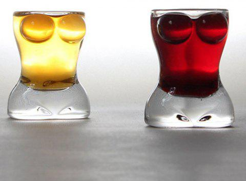 0.85oz Creative Sexy Lady Body Shape Vodka Whiskey Shot Wine Glass 2-Pack - TRANSPARENT