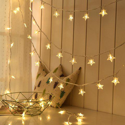 1M/3M/6M LED Star Fairy Garland String Lights Novelty For New Year Christmas - WARM WHITE 6M 40LEDS