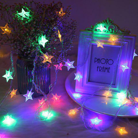 M 220V EU Plug Christmas tree Star String Fairy Novelty Lights LED Holiday light - multicolor A EU PLUG
