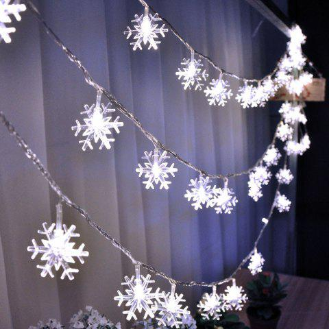 Snowflake Fairy String Lights Decorative Christmas LED Lamp - WARM WHITE 6M 40LED PLUG