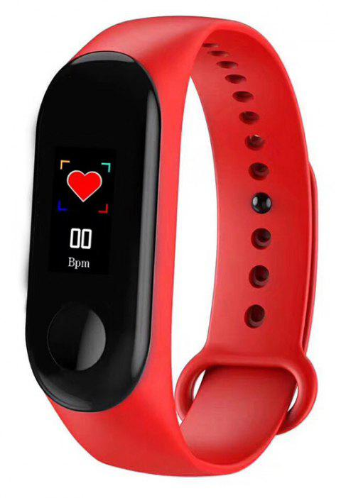 Sanda Smart Sports Step Counter Bluetooth Synchronization Information Heart Rate - RED