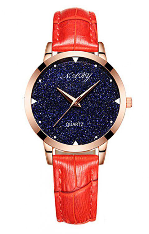NARY/Nairy  Star Watch Women's Watch - RED