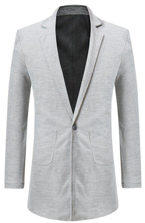 Men's  Personality One Button Slim Fit Stitching Suit - LIGHT GRAY 2XL