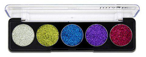 IMAGIC5 5 Colors Eye Shadow Flashing Powder Eye Shadow Plate - 003
