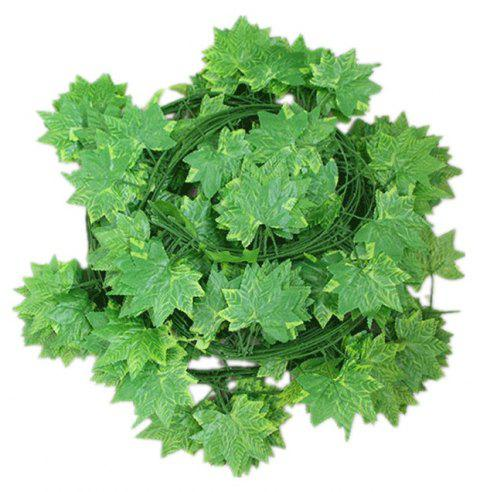 Simulation Maple Leaf Decoration Rattan Home Wedding Party Decoration 12PCS - JUNGLE GREEN