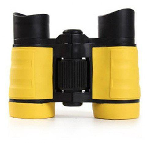 4X30 Plastic Children Binoculars Telescope Outdoor Game Toys - YELLOW