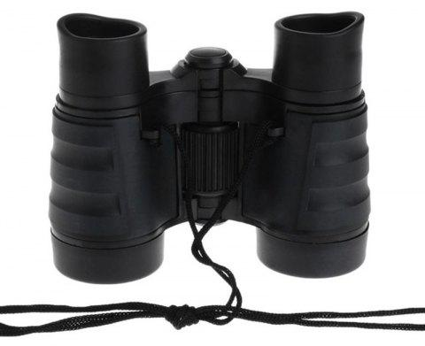 4X30 Plastic Children Binoculars Telescope Outdoor Game Toys - BLACK