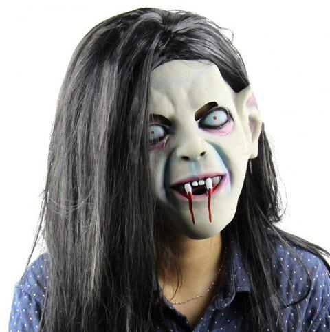 Halloween Pullover Horror Party Cosplay Latex Creepy Scary Hall Mask - multicolor