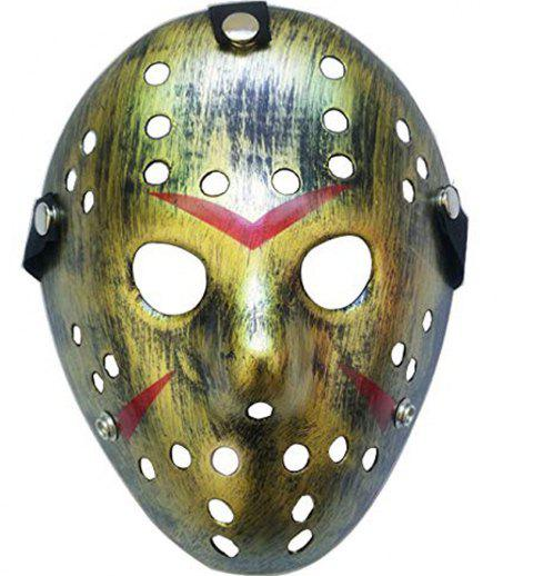 Jason Freddy Festival De Hockey Cosplay Masque De Fête De Mascarade Halloween - Bronze