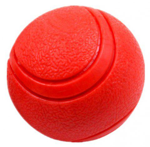 Pet Bounce-Resistant Solid Ball Puzzle Toy - RED