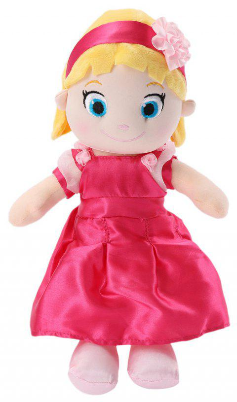 Plush Toys 12INCH Girl Doll Super Soft Stuffed Toy ( Red ) - ROSE RED