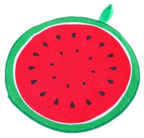 Can Hang Type Cartoon Fruit Design Wipe Towel Kitchen Absorbent Dish Cloth - multicolor A