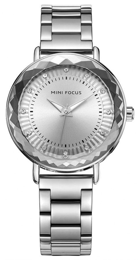 MINI FOCUS Ladies Dress Quartz  Top Fashion Female Clock  Brand Women Watches - SILVER
