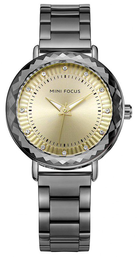 MINI FOCUS Ladies Dress Quartz  Top Fashion Female Clock  Brand Women Watches - BLACK
