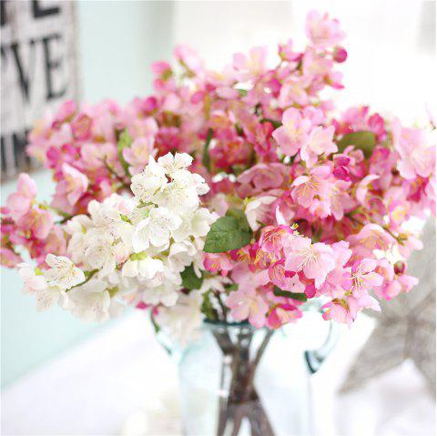 Artificial Flowers Silk Cherry Blossoms for Home Party Decoration - BLUSH RED