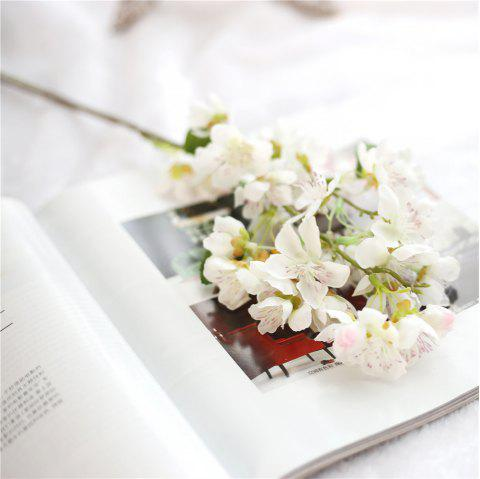 Artificial Flowers Silk Cherry Blossoms for Home Party Decoration - WARM WHITE