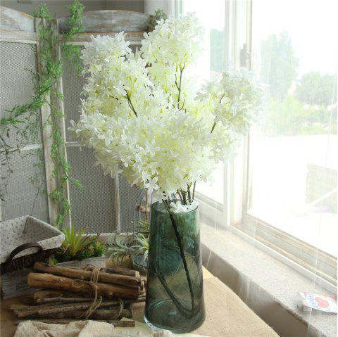Home Wall Artificial Flower Decorations for Wedding Party - MILK WHITE