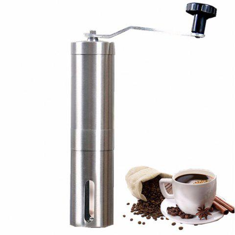 Coffee Grinder Portable Stainless Steel Household Espresso Machine - SILVER