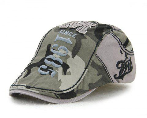 JAMONT Men's Cotton Stitching Camouflage Hat Outdoor Casual Embroidery Letter Ca - GRAY CLOUD