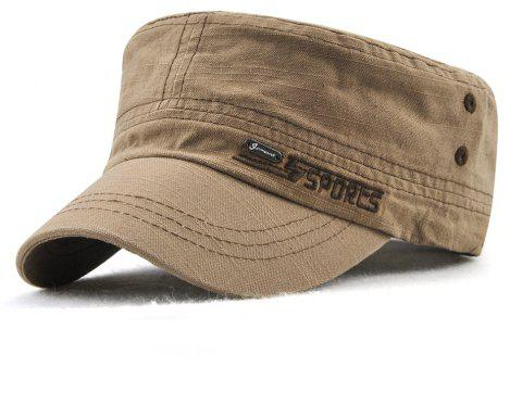 JAMONT Men and Women Embroidered Letters Sunshade Simple Wild Flat Cap - TAN