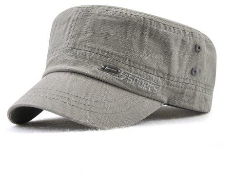 JAMONT Men and Women Embroidered Letters Sunshade Simple Wild Flat Cap - GRAY