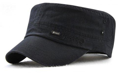 JAMONT Men and Women Embroidered Letters Sunshade Simple Wild Flat Cap - BLACK