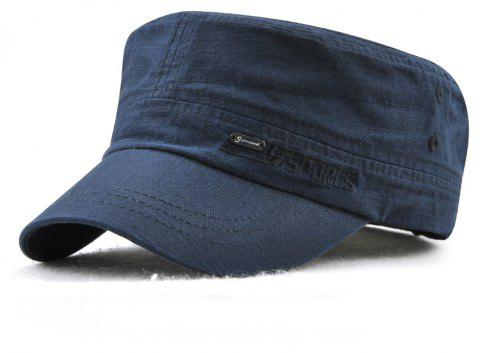 JAMONT Men and Women Embroidered Letters Sunshade Simple Wild Flat Cap - DEEP BLUE