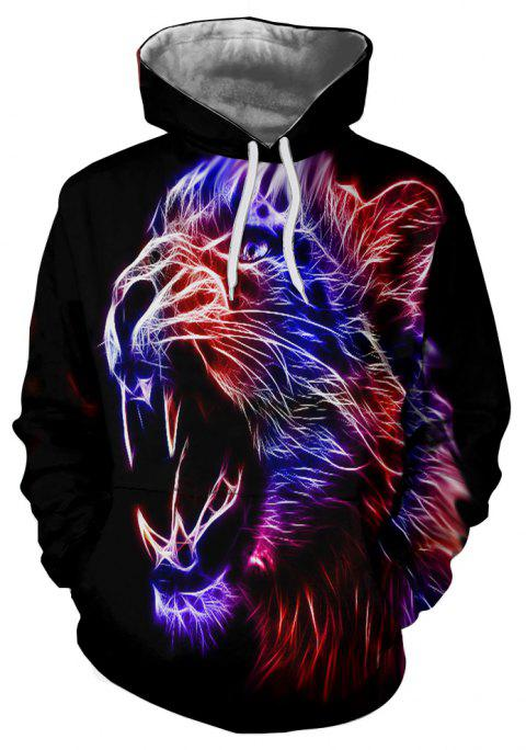 Autumn Fashion Men's Printed Hoodie - multicolor B S