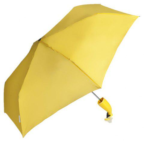 Cute Banana Rain Folding Umbrellas - YELLOW