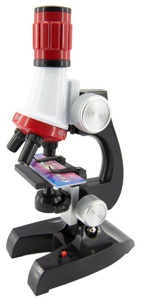Sci fi Educational Microscope Kit Science Lab 100-1200X Toy - multicolor