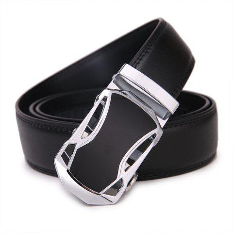 SAN VITALE Men Belt Automatic Buckle Adjustable Strap - BLACK 110CM