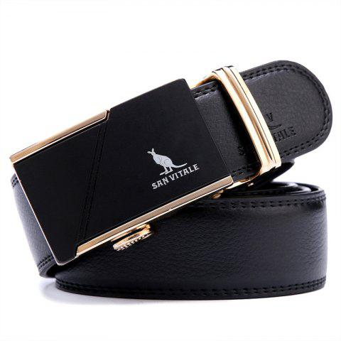 SAN VITALE New Design Genuine Leather Belt for Men - BLACK 130CM