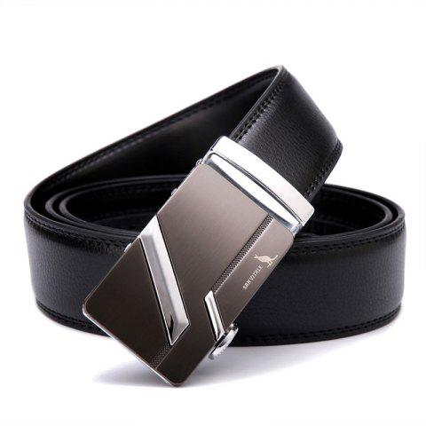 SAN VITALE Slim Black Adjustable Buckle Men Belt Buckle - BLACK 120CM
