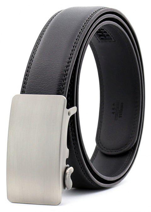SAN VITALE Adjustable Buckle Men Belt - BLACK 125CM