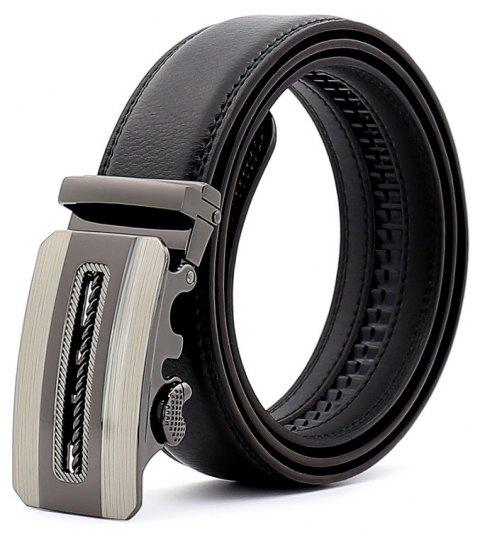 SAN VITALE New Designer Brand Adjustable Buckle Men Belt - BLACK 110CM