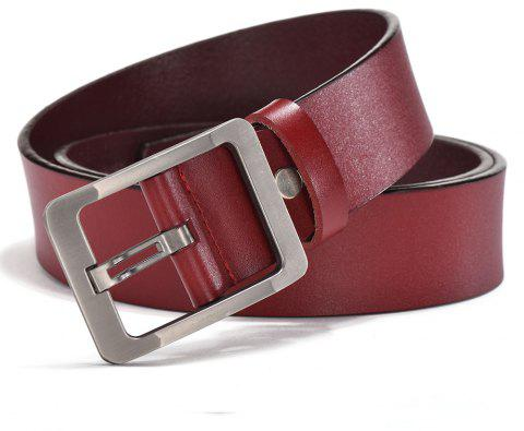 SAN VITALE Genuine Leather Adjustable Pin Buckle Men Belt - CHESTNUT 130CM