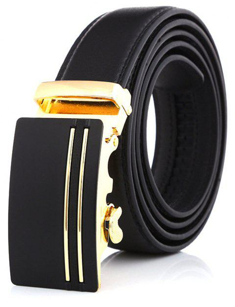 SAN VITALE Adjustable Buckle Men Belt Causal Strap - BLACK 125CM